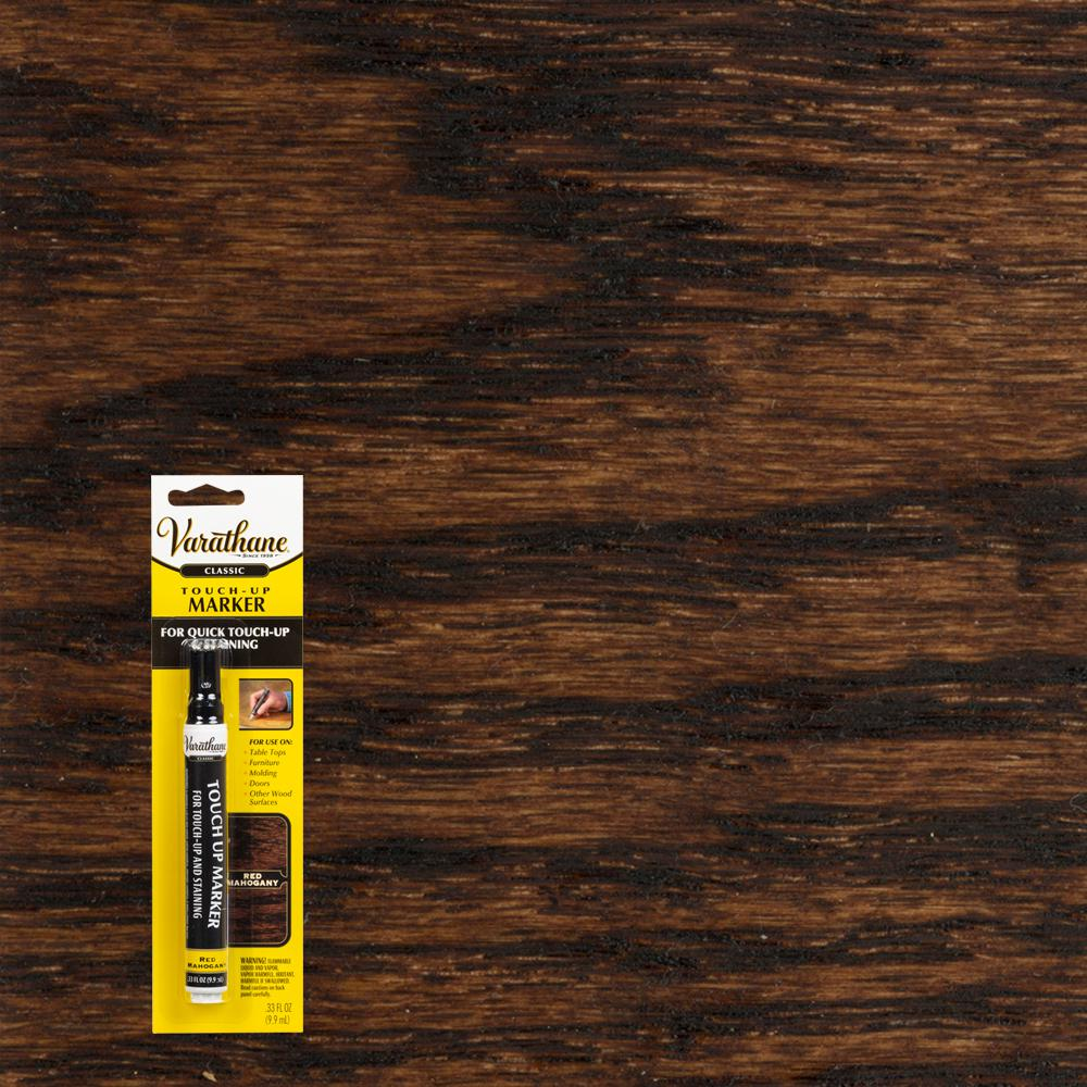 Red Mahogany Wood Stain Furniture Floor Touch Up Marker 340254 The Home Depot