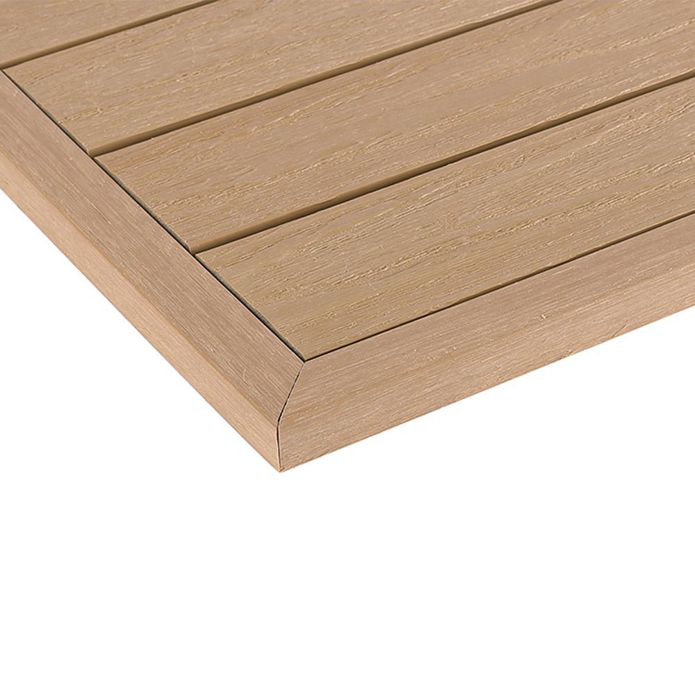 1/12 ft. x 1 ft. Quick Deck Composite Deck Tile Outside Corner Fascia in Canadian Maple (2-Pieces/Box)