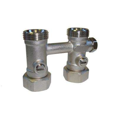 Straight Isolation Valve with By-Pass and O-Ring Seat for Pensotti Hot Water Panel Radiator