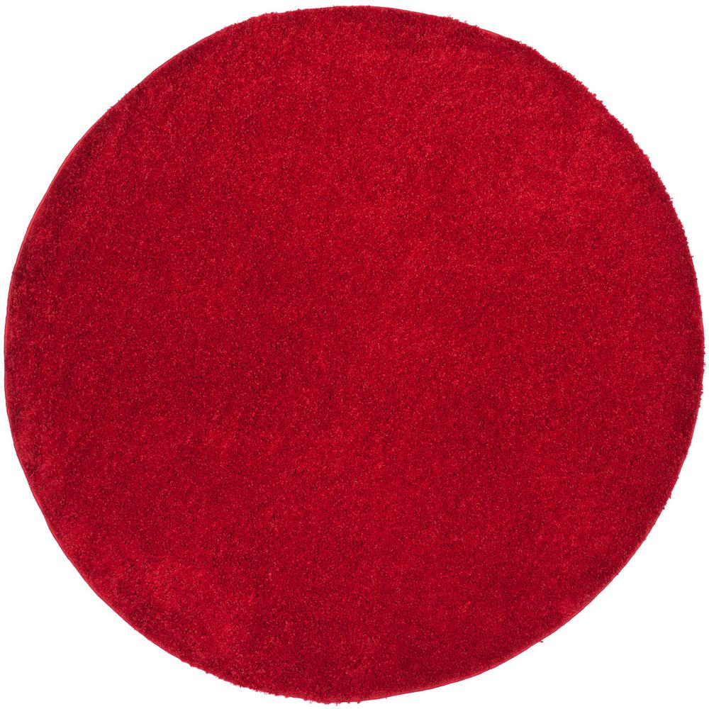 Arizona Shag Red 6 ft. 7 in. x 6 ft. 7