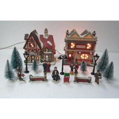 Christmas Village Sets.Home Accents Holiday 5 98 In H Christmas Village Set