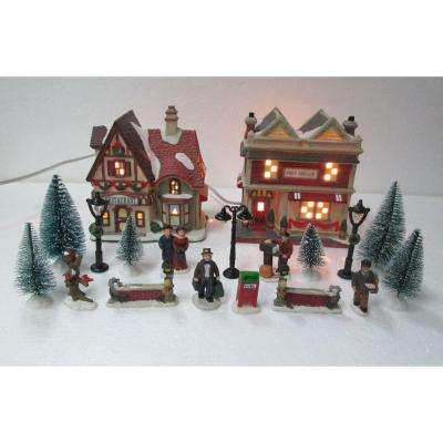 598 in h christmas village set school