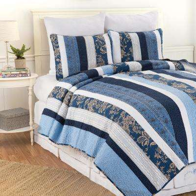 Blue Lakeland King Quilt Set