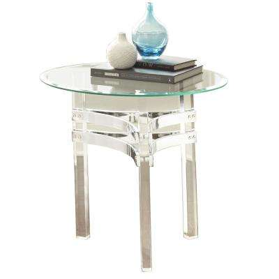 Clayhill Glass and Acrylic End Table