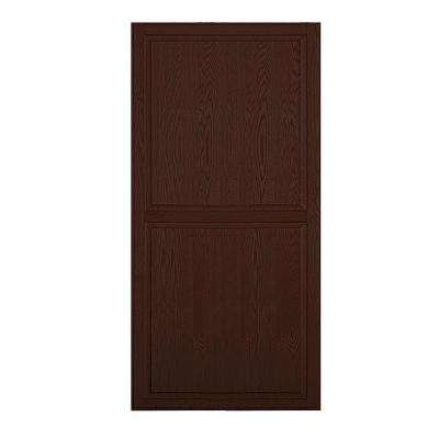 Solid Oak Double End Side Panel for 21 in. D Executive Wood Locker in Dark Oak