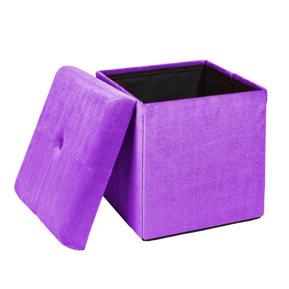 Purple Storage Ottoman