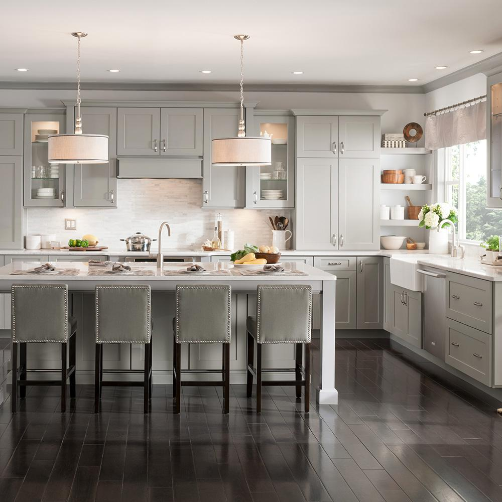 American Woodmark Custom Kitchen Cabinets Shown in ...