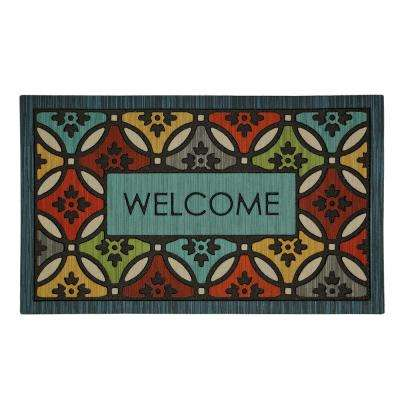 Clementine Shades Multi 18 in. x 30 in. Door Mat
