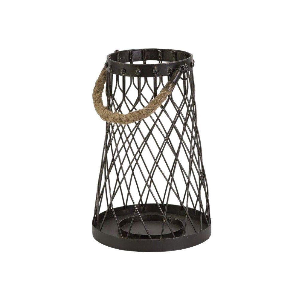 Home Decorators Collection Regatta 11.5 in. H x 7.75 in. W Bronze Small Candleholder