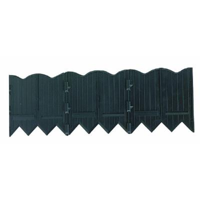 Border Master 20 ft. Recycled Plastic Poundable Landscape Lawn Edging with Connectors Black