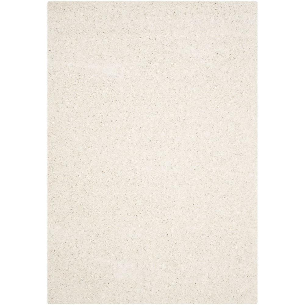 Athens Shag White 6 ft. x 9 ft. Area Rug