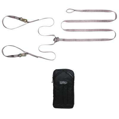 Snowmobile Tool Pouch and Tow Strap Holder with Tow Strap