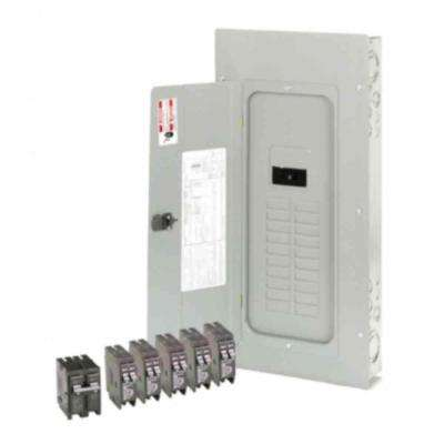BR 200 Amp 20 Space 40 Circuit Outdoor Main Breaker Loadcenter with Cover Value Pack (5-BR120, 1-BR230)