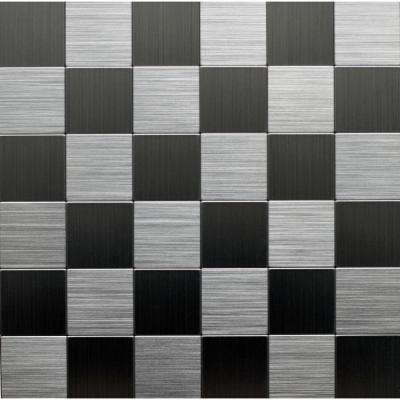 12 in. x 12 in. Metal Backsplash Tile in Stainless (6-Pack)