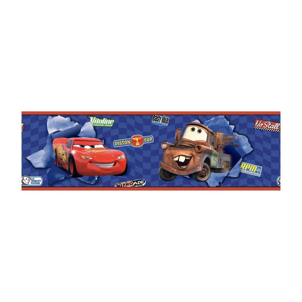 York Wallcoverings Disney Kids Cars McQueen U0026 Mater Wallpaper Border