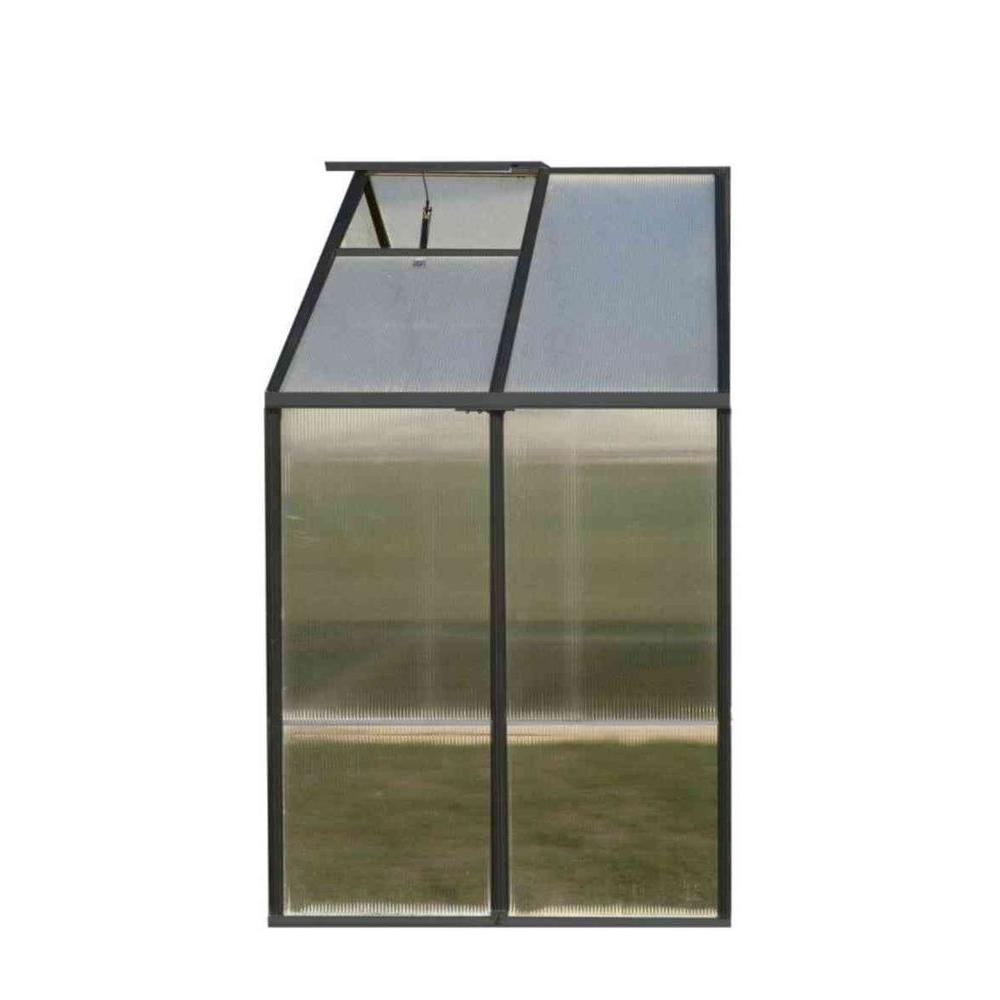 Monticello 4 ft. x 8 ft. Greenhouse Black Extension Kit