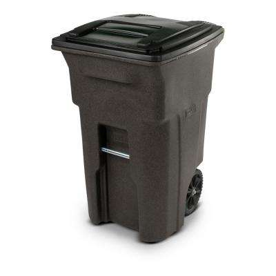 64 Gal. Wheeled Brownstone Trash Can