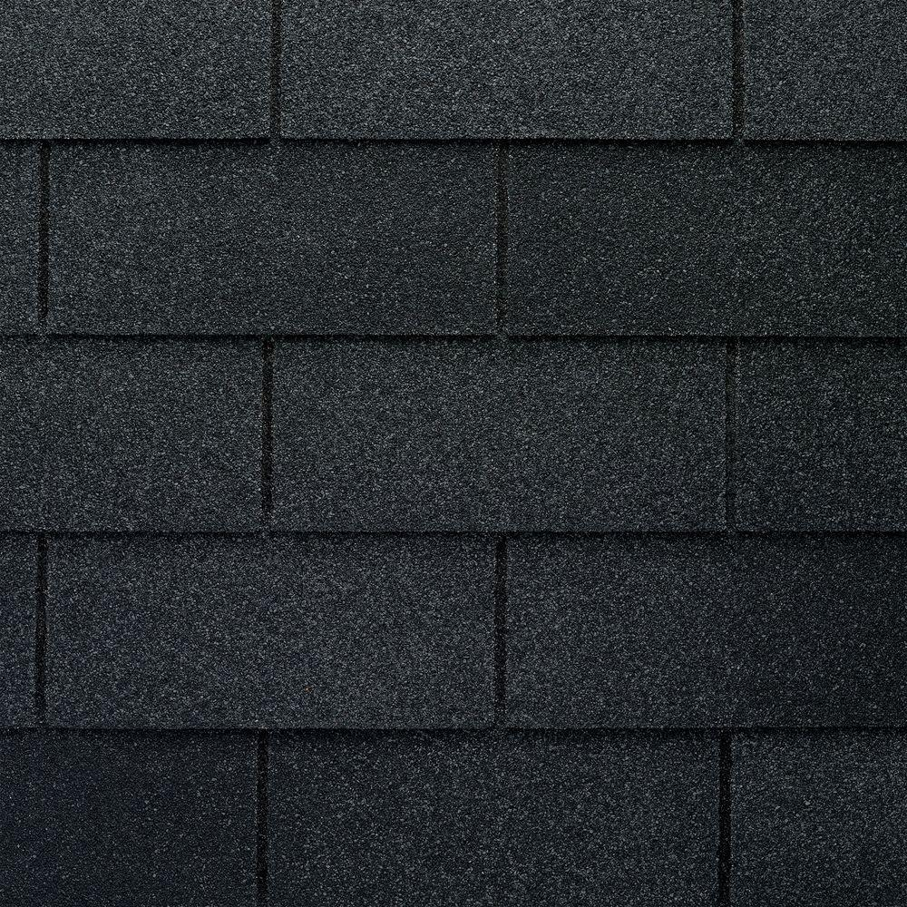 GAF Marquis WeatherMax Charcoal 3-Tab Roofing Shingles (33.3 sq. ft. per Bundle) (26-pieces)