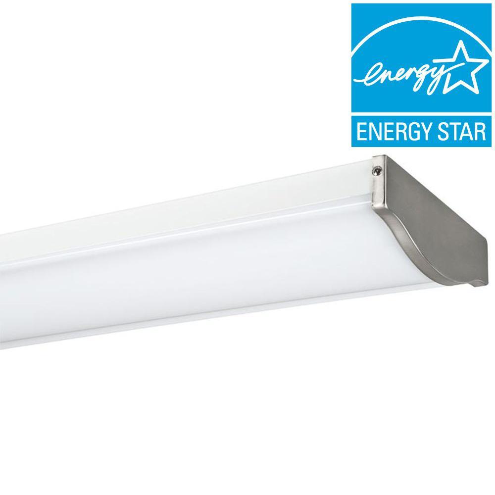 2-Light Satin Nickel Fluorescent Ceiling Light