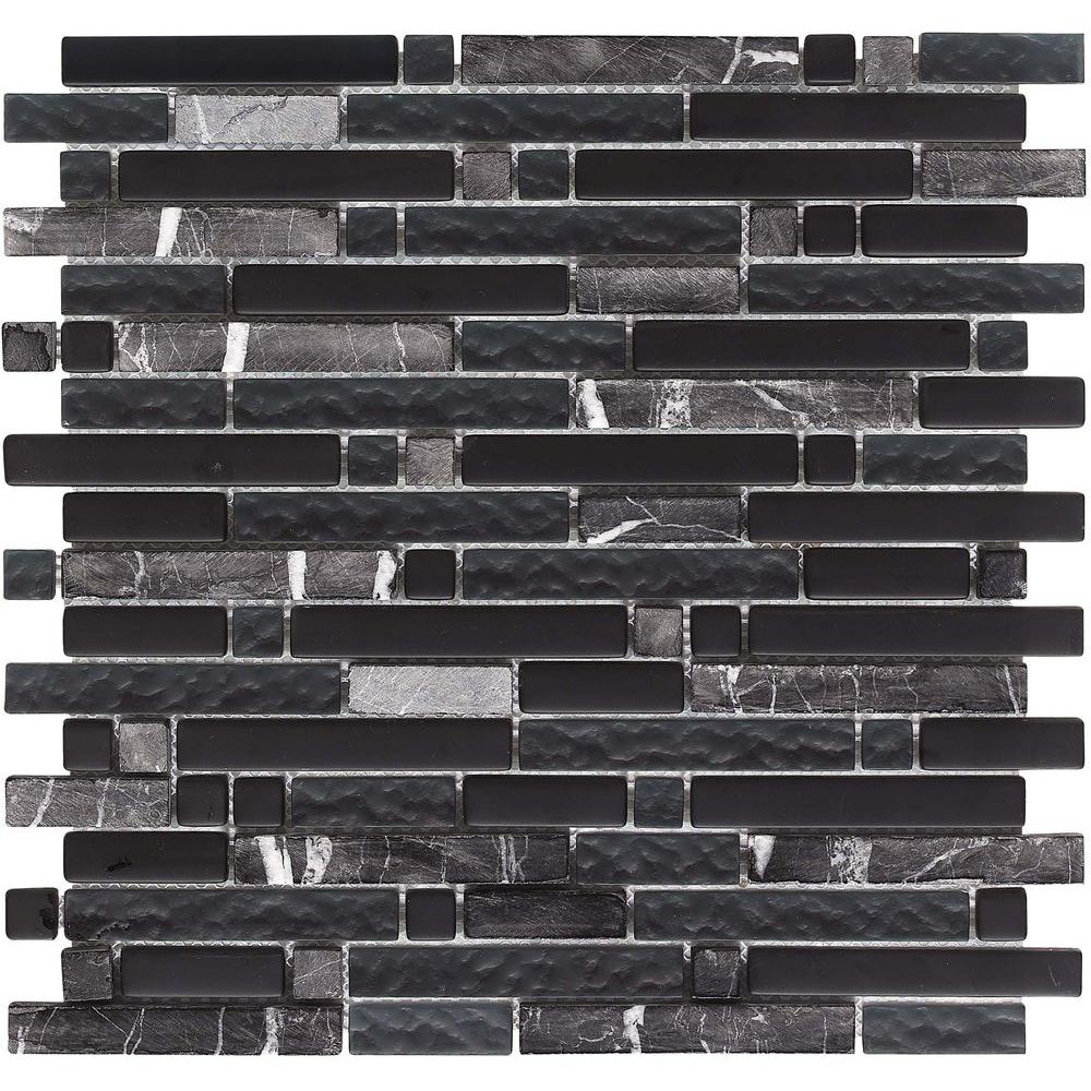 Epoch Architectural Surfaces Varietals Zinfandel-1652 Stone And Glass Blend 12 in. x 12 in. Mesh Mounted Floor & Wall Tile (5 sq. ft. / case)