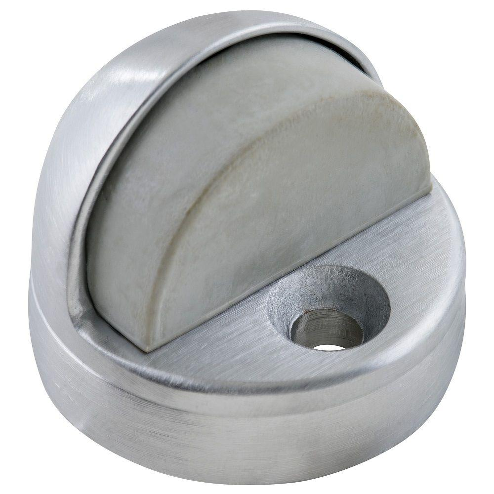 Satin Chrome Dome Floor Stop With Riser