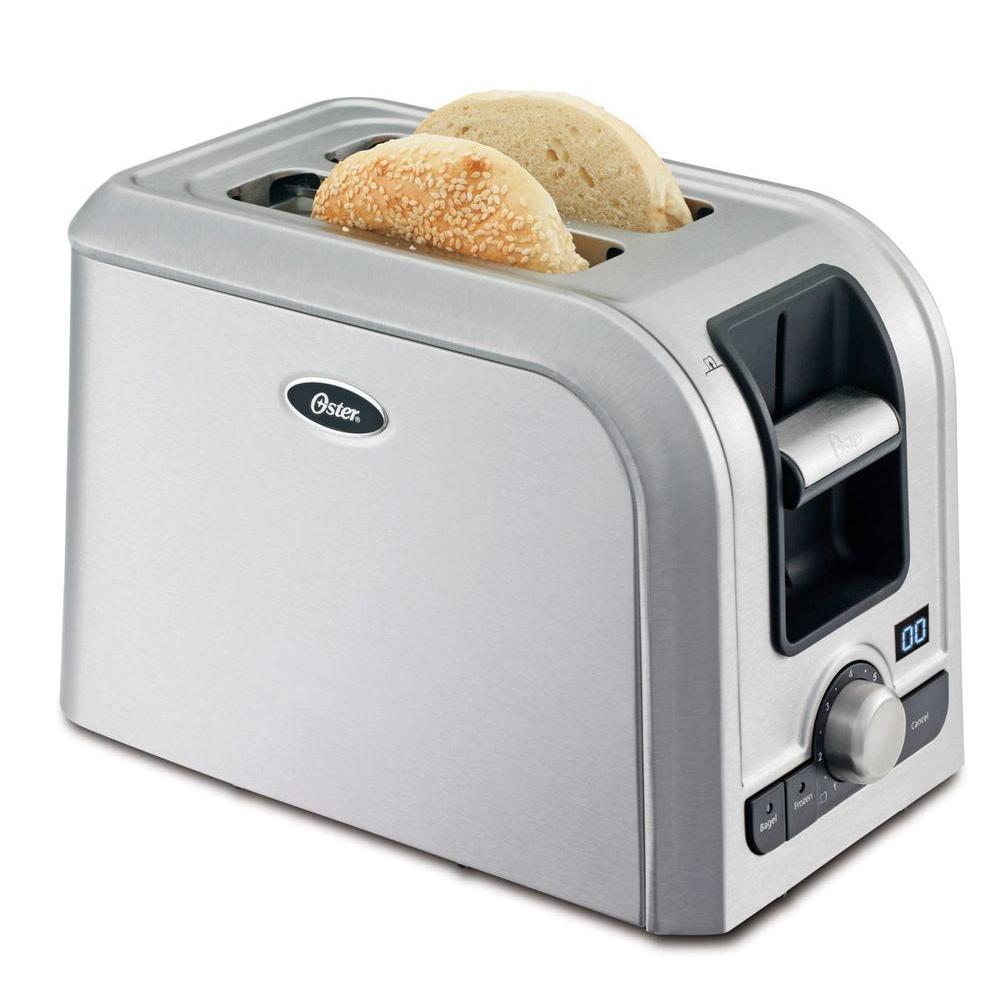 Oster 2 Slice Brushed Stainless Steel Toaster TSSTRTS2S2 The