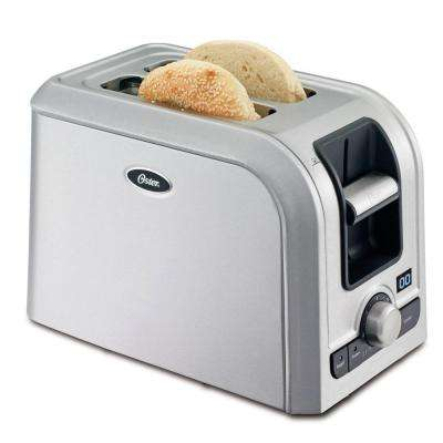 2-Slice Brushed Stainless Steel Toaster