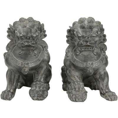 Oriental Furniture 9 in. Sitting Foo Dog Decorative Statues