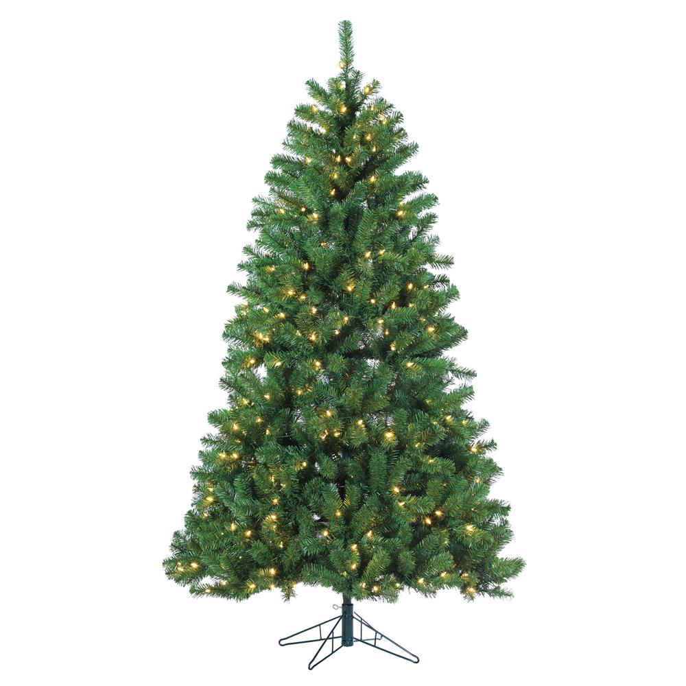 pre lit led montana pine artificial christmas tree with warm white - Pre Lit Christmas Trees