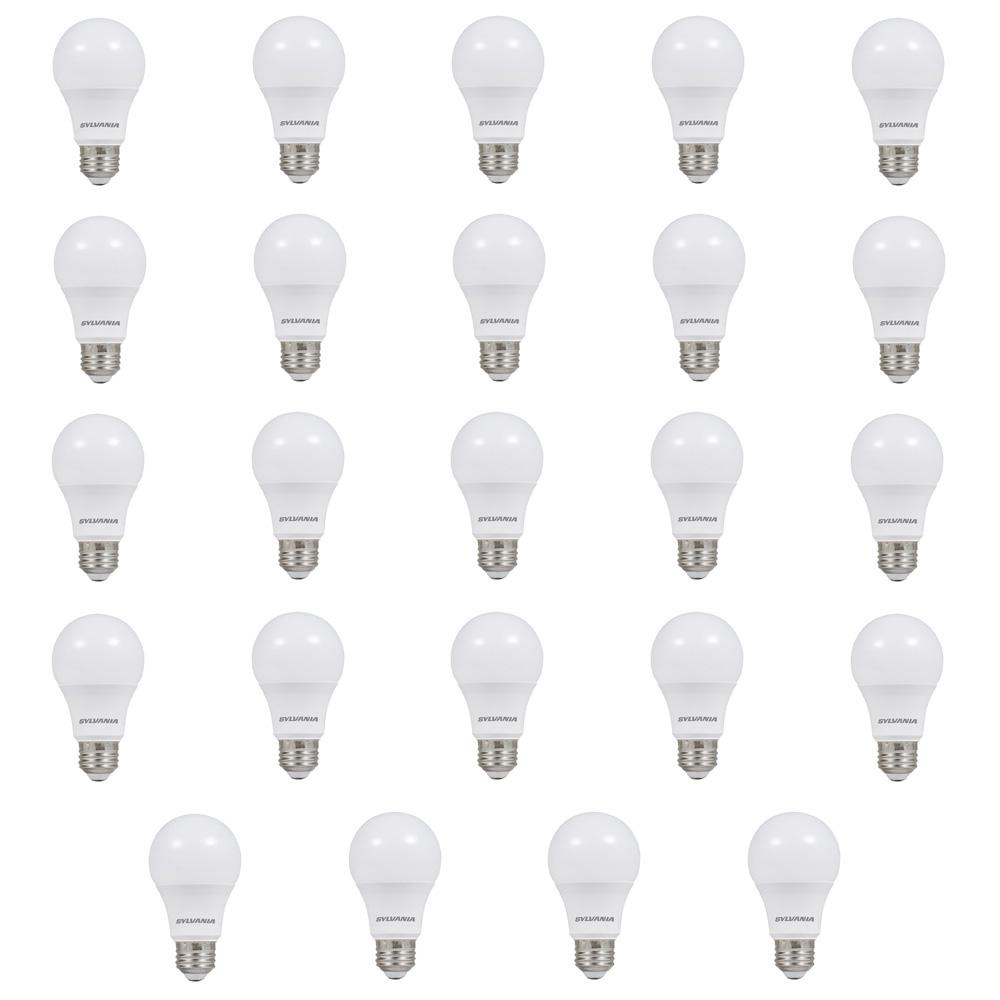 Sylvania 60W Equivalent Soft White A19 Non-Dim LED Light Bulb  (24-Pack)-74765 - The Home Depot