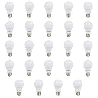 60W Equivalent Soft White A19 Non-Dim LED Light Bulb (24-Pack)