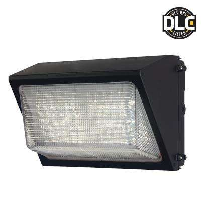 50-Watt Dark Bronze Outdoor Integrated LED Wall Pack Light