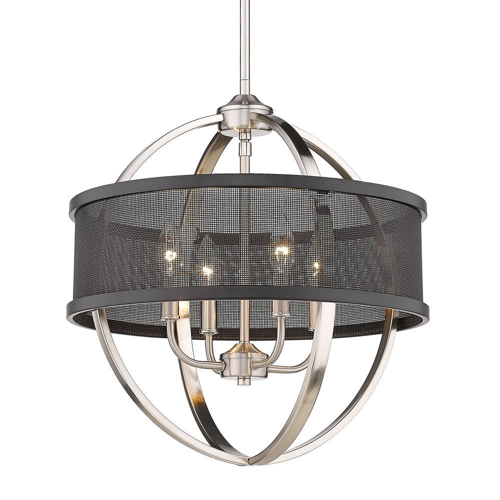 Colson 4-Light Pewter Globe Chandelier