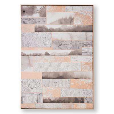 "39 in. x 28 in. ""Rose Quartz Dimension"" Printed Canvas Wall Art"