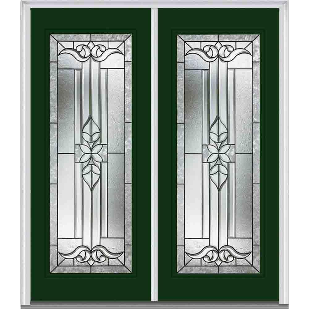 MMI Door 64 in. x 80 in. Cadence Left-Hand Full Lite Classic Painted Steel Prehung Front Door