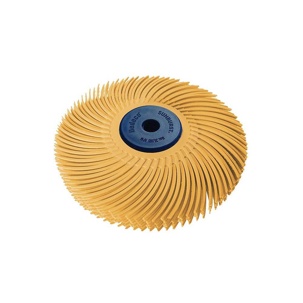 Dedeco Sunburst 3 in. 6-Ply Radial Discs 1/4 in. 6 mic X-Fine Arbor Thermoplastic Cleaning and Polishing Tool
