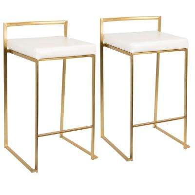 fuji gold and white counter stool set of 2