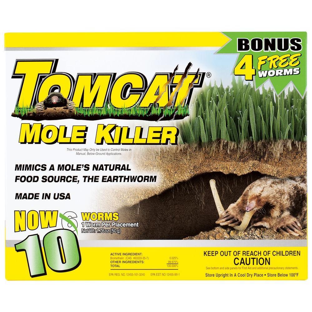 Tomcat Mole Killer Worm Bait 10 Pack 34300 The Home Depot