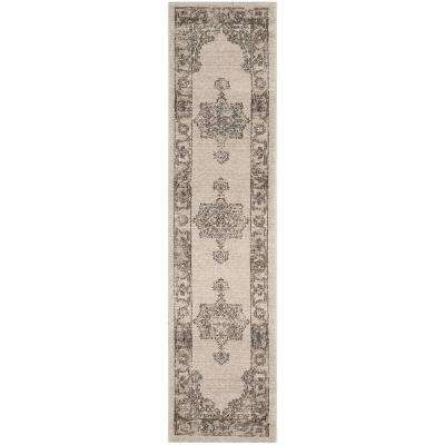 Carmel Beige/Brown 2 ft. x 8 ft. Runner Rug