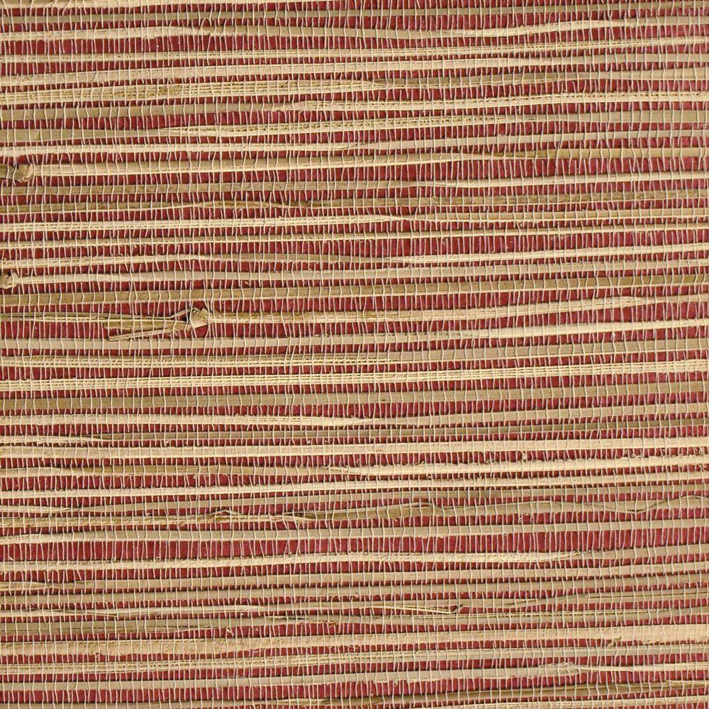 The Wallpaper Company 72 sq. ft. Crimson Raffia Weave Texture Wallpaper-DISCONTINUED
