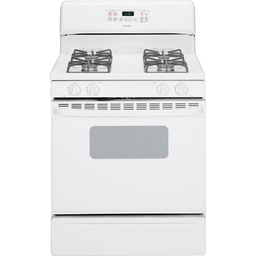 Hotpoint 4.8 cu. ft. Gas Range with Self-Cleaning Oven in White