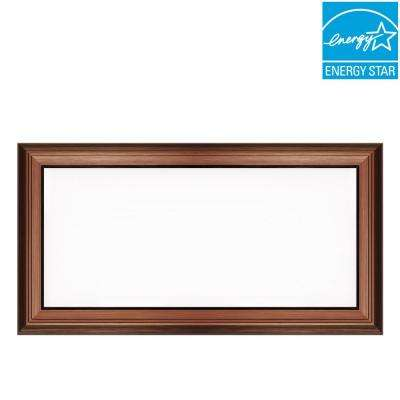 1 ft. x 2 ft. 24-Watt Dimmable Bronze Integrated LED Edge-Lit Deco Panel Ceiling Flushmount with Color Changing CCT
