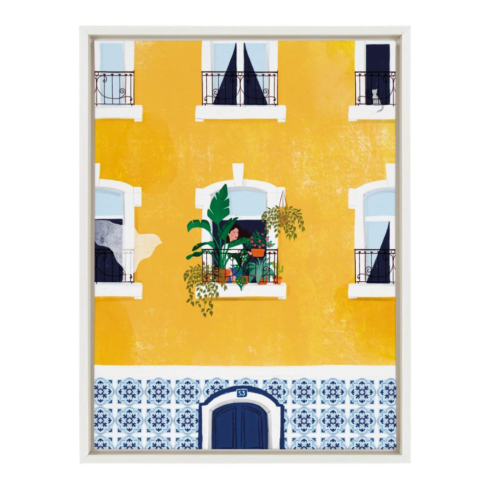"Sylvie ""Lisabon"" by Maja Tomljanovic Framed Canvas Wall Art"
