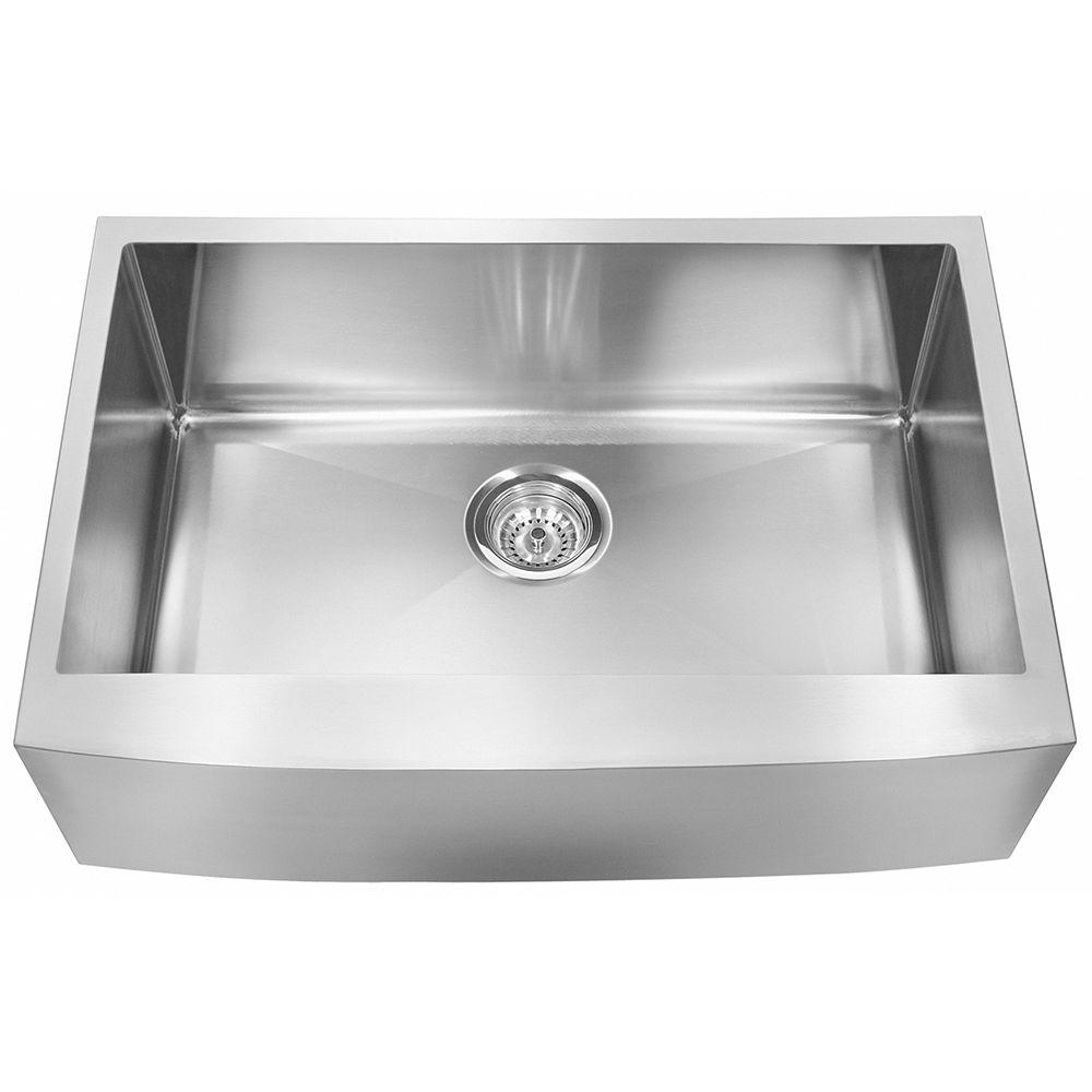 Franke Farmhouse Undermount Stainless Steel 33 In 0 Hole 18 Gauge Single Bowl Kitchen Sink Ffs33b 10 18 The Home Depot