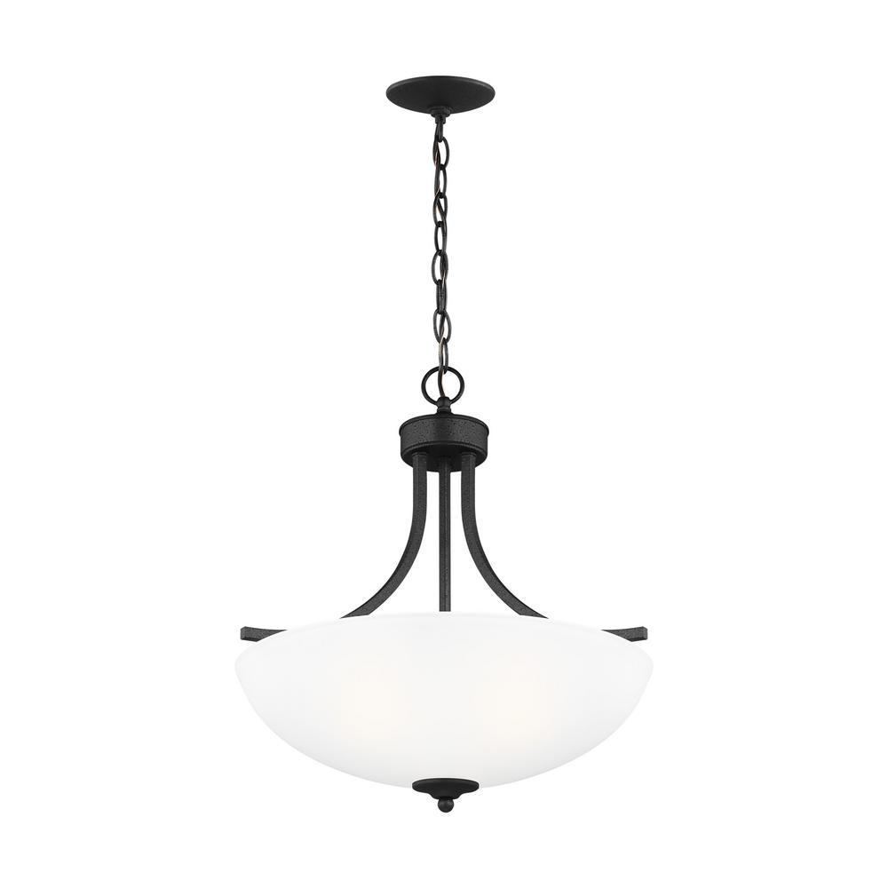 Geary 3-Light Blacksmith Pendant with LED Bulbs