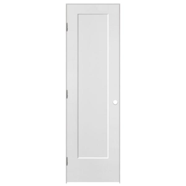 24 in. x 80 in. Lincoln Park 1-Panel Left-Handed Hollow-Core Primed Composite Single Prehung Interior Door