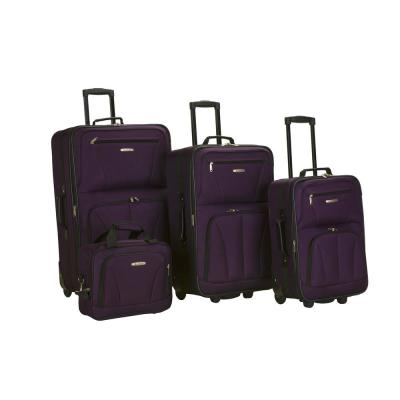 Rockland Sydney Collection Expandable 4-Piece Softside Luggage Set, Purple