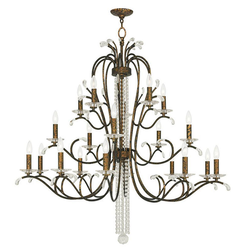Venetian Bronze Chandelier: Livex Lighting Serafina 20-Light Venetian Golden Bronze