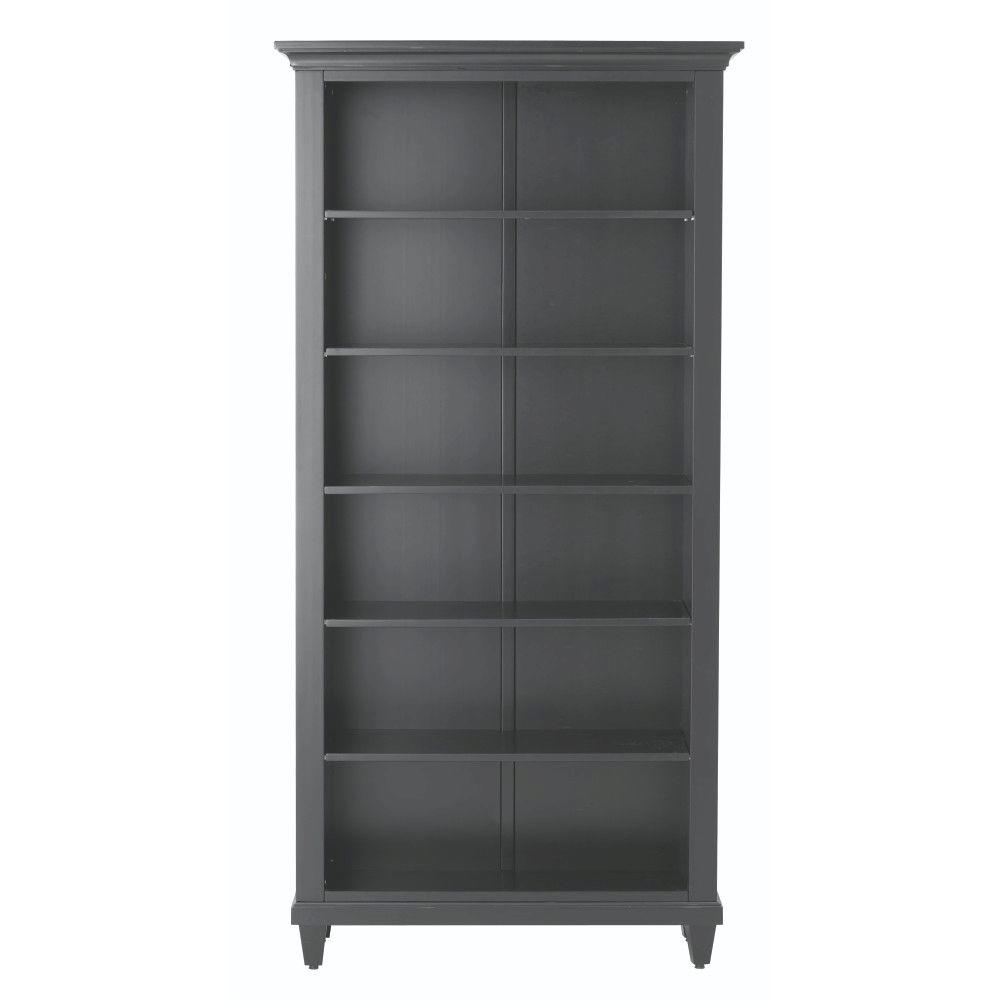 Home decorators collection martin black open bookcase for Home decorators bookcase