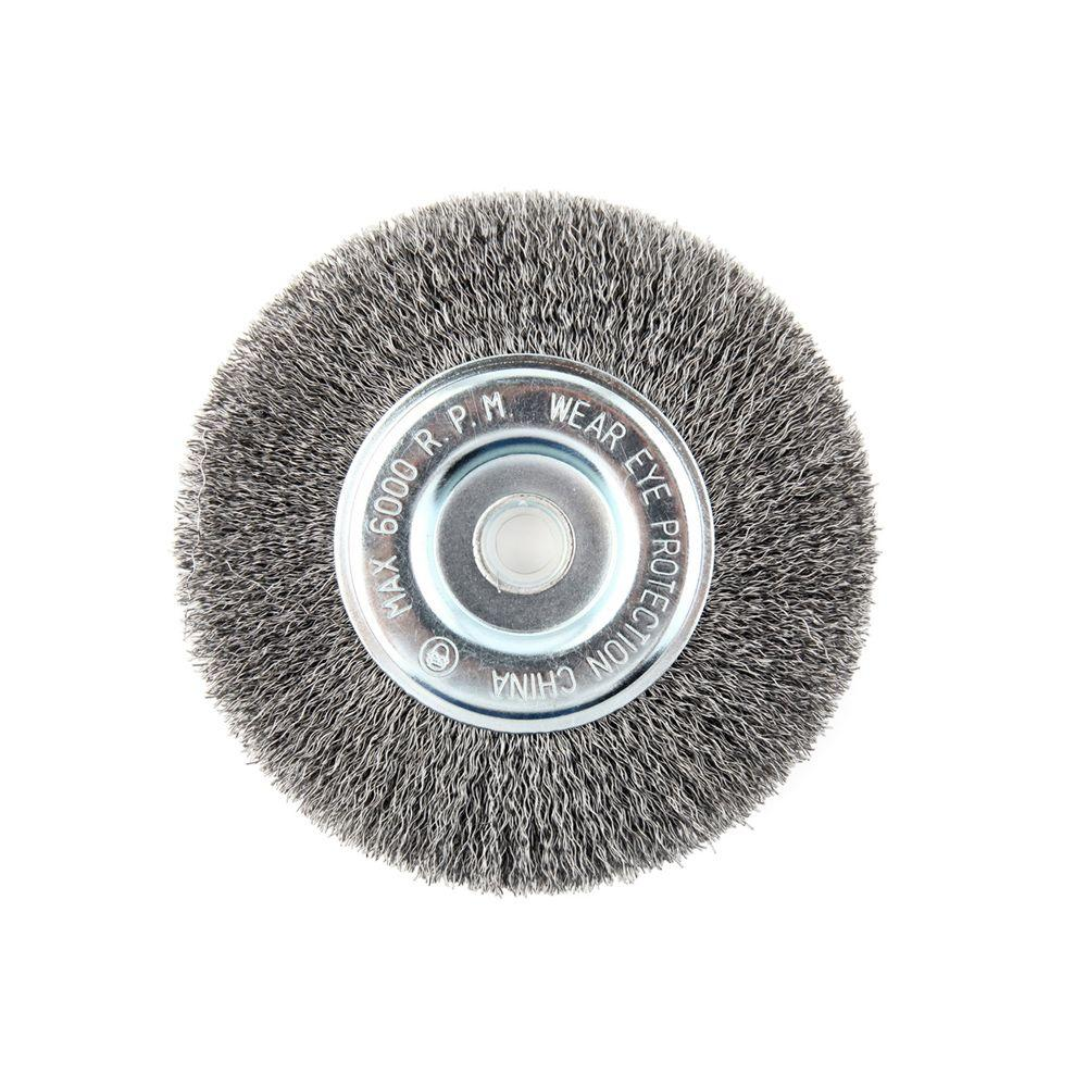 Lincoln Electric 6 in. x 5/8 in. Crimped Wire Wheel Brush-KH320 ...
